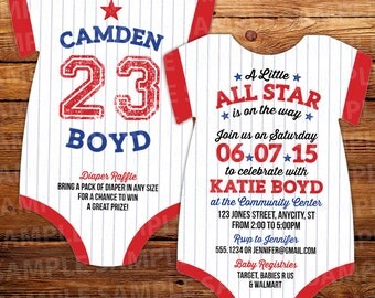 10 football baby shower invitations all star invitation, Baby shower invitations