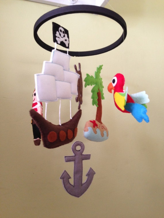 Pirate Baby Mobile Pirate Themed Felt Baby Mobile