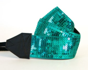 DSLR Camera Strap - Photographer Gift - Gifts for Mom - Graduation Gift - Camera Accessories - Teal Shine