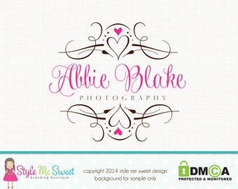 Photography Logo Frame Logo Design Heart Logo Design Graphic Design Premade Logo Design Photographers Logo Watermark Logo Elegant Logo