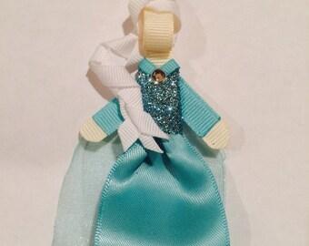 Disney frozen inspired Anna or Elsa hair clip or headband