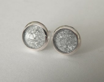 Silver Sturdast Post Earrings, Minimalist Stud Earrings