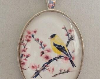 Goldfinch Pendant Necklace