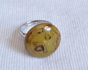 Bakelite ring adjustable band nickel free
