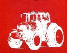 Red Tractor Toddler T-Shirt~Tractor T Shirt~Kids Tractor Shirt