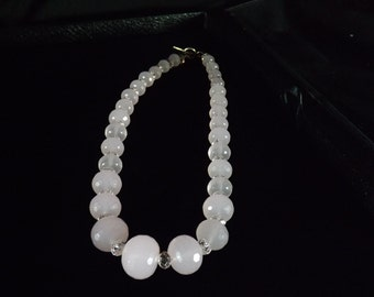 Rose Quartz graduated Bead necklace