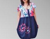 Women Hand painted short dresses/baby doll summer flower bottom /cute short ball little dresses