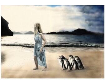 5x7 Illustration Print - 'My Island Home'