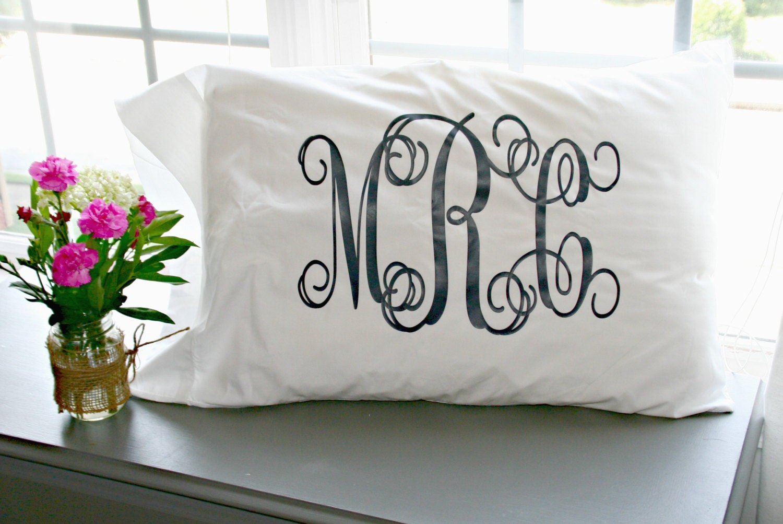 Monogrammed Pillowcases Pillow Case Monogrammed Custom