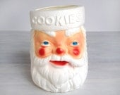 Empire Santa Claus cookie jar, plastic blow mold Christmas decoration, vintage 1970s, Carolina Enterprises, made in U.S.A., vase, holiday