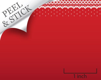Quarter Scale Wallpaper-Peel and Stick-Red Snowfall