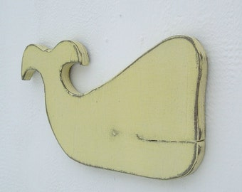 whale wood nautical art