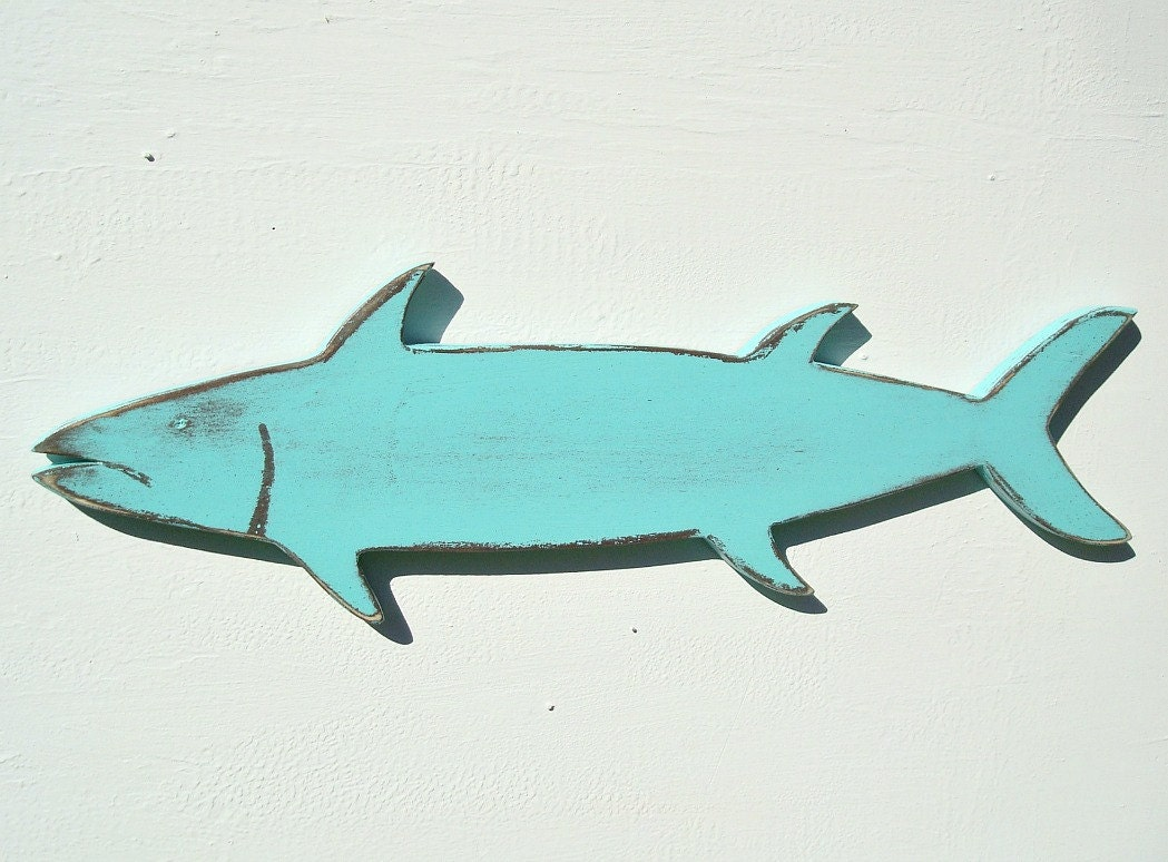 Wall Art Wood Fish : Wood fish nautical wall art