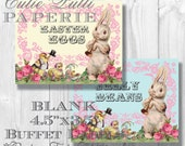 Easter Party Candy Buffet Signs by Cutie Putti Paperie