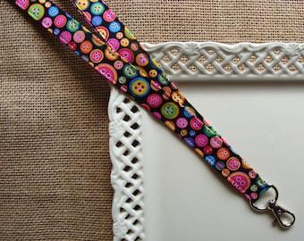 Fabric Lanyard ID - Cute as A Button