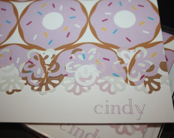 Donut Handcrafted Note Cards