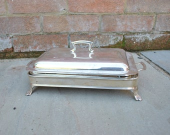 Vintage - Rodgers silver plated covered 3 piece serving dish