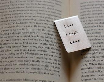 Personalized Aluminum Bookmark - Hand Stamped - Boyfriend Gift - Girlfriend - Husband Wife Gift - 7th Anniversary - 10 Year