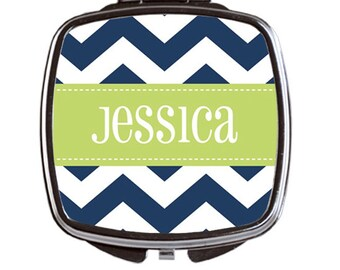 Personalized Compact Mirror, Monogrammed Pocket Mirror, Bridal Party Gifts, Monogram Hand Mirror