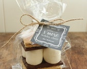 24 S'mores Holiday Gift Kits - Chalkboard Design - Personalized Holiday Gift // Holiday Party Favors // Christmas Party Favors // Tags