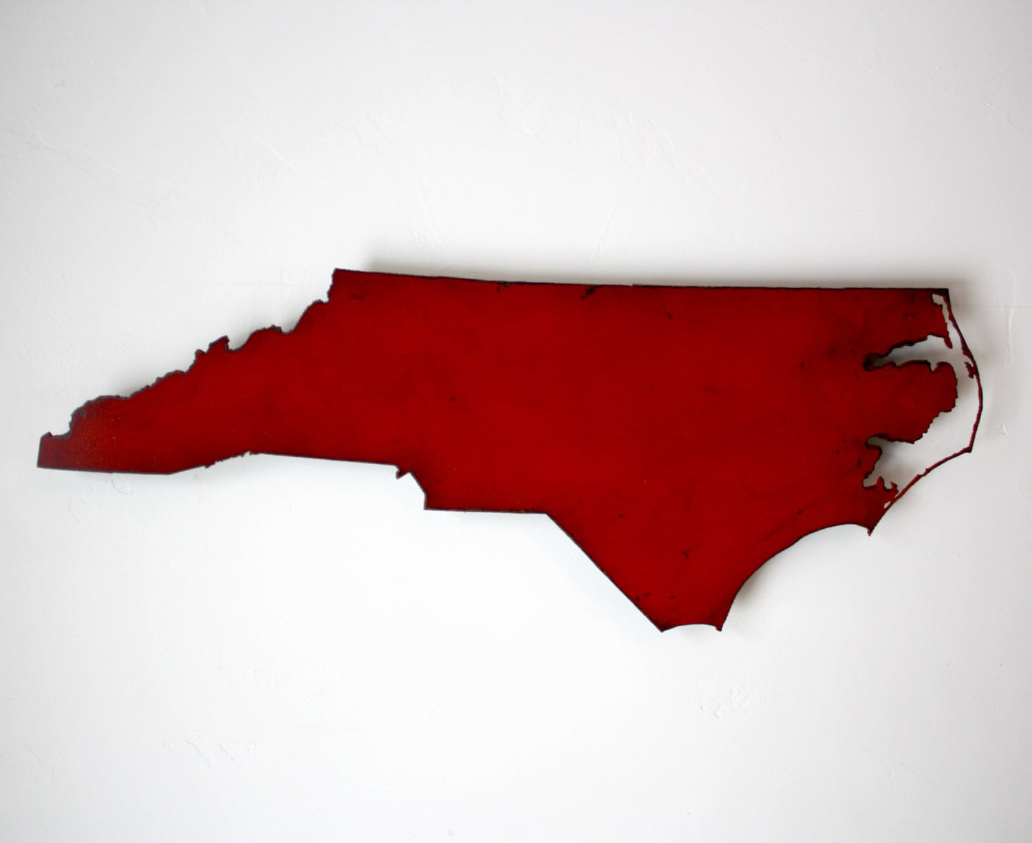 Wide North Carolina Metal Map Wall Art Choose Your - North carolina on usa map
