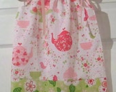 Strawberry tea party - Pillowcase Dress or Peasant Dress - Pick your size Newborn through 10 Years