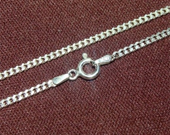 """24"""" Medium Heavy Weight 060 Curb STERLING Neck Chain"""
