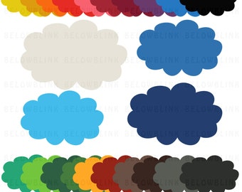 Clouds Digital Clip Art Commercial Use - Instant Download  - DP103