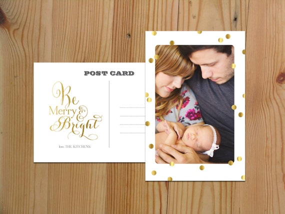 Be Merry and Bright Christmas Card