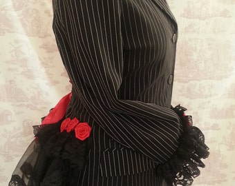 Gothic Bustle Jacket SIZE 12/14 One of A Kind STEAMPUNK By Gothic Burlesque