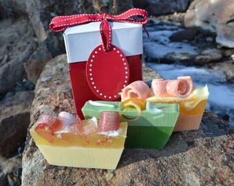 Bath Set~ Soap~Sugar Soaps~ Lemongrass Soap~ Orange Soap~Lime Soap~ 3 pack Handcrafted Soap Vegan Aromatherapy  Essential Oils Shave Soap