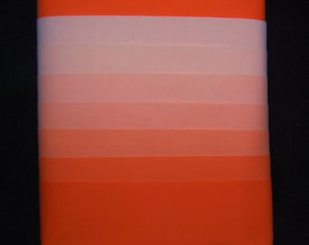 7 Fat Quarters, ORANGE ORANGE, Beautiful 7 Step Gradation Set, Hand Dyed Solids, COLORFAST - Ready to Sew