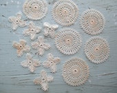 Vintage Tiny Knotted Lace Trim Applique Pieces K104