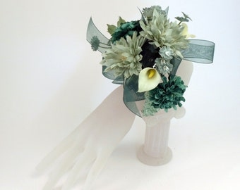 Aqua Corsage, Wrist Corsage, Blue Green Flowers, Mother's Day, Prom