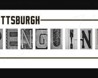 Pittsburgh Penguins Hockey Alphabet Photo Collage