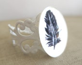SALE - Feather Filigree Ring