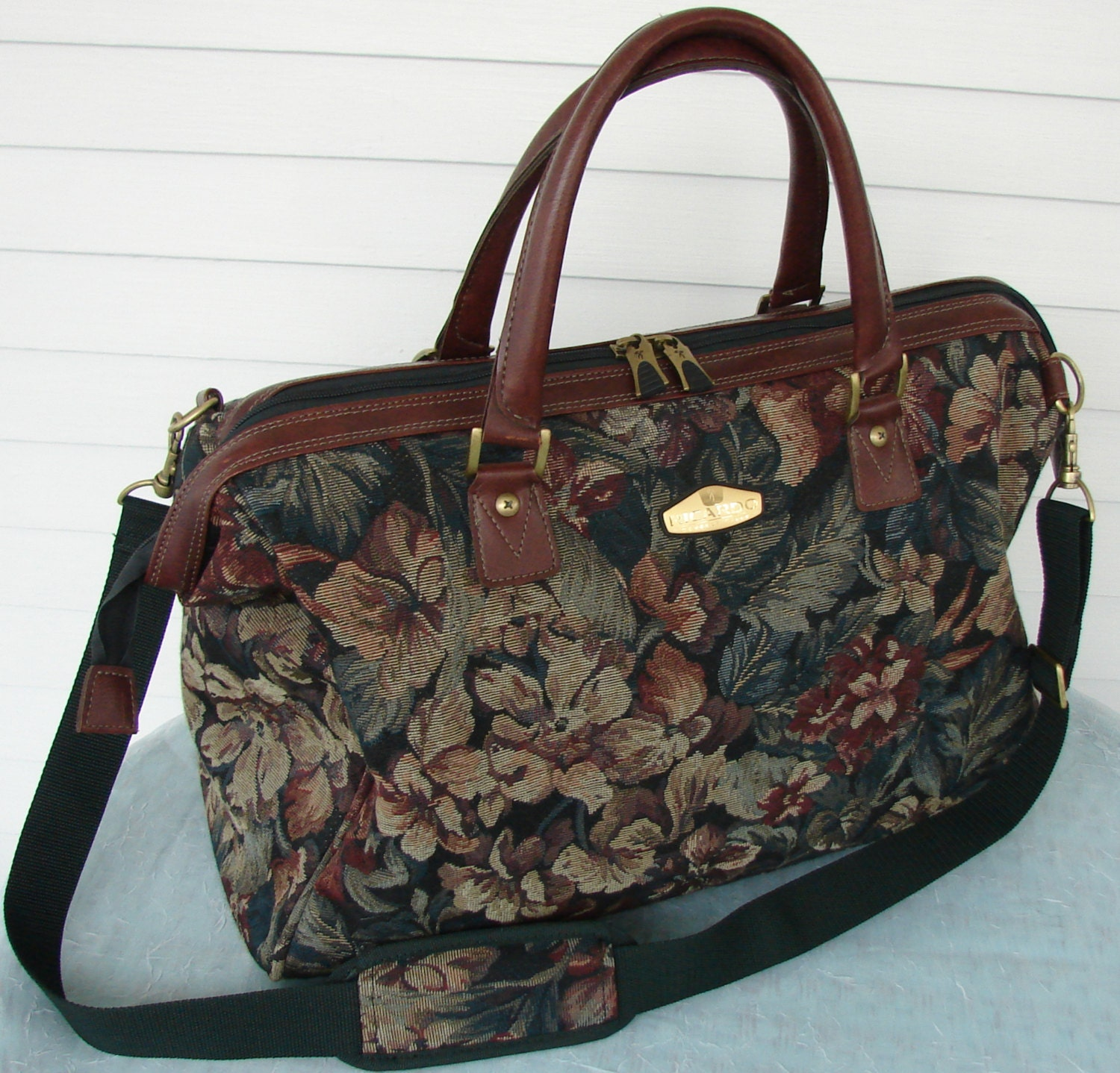 Floral Tapestry Over-sized Tote / Carry-on / Luggage Designer