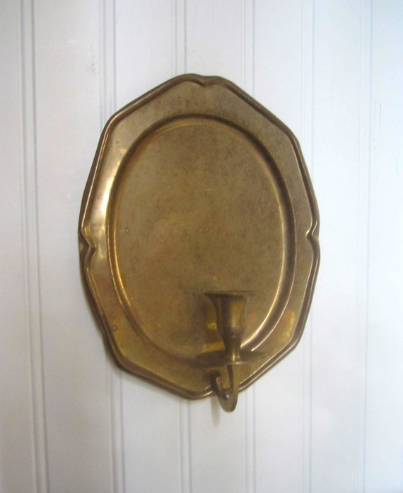 Colonial Brass Wall Sconces For Candles : Candle Sconce brass Colonial Williamsburg wall taper
