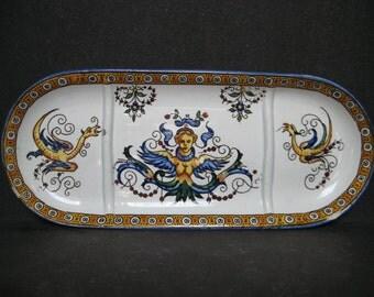 Gien Faience Art Pottery Dresser Tray