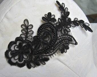 Bridal Black Lace Hair Comb