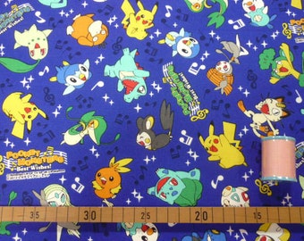 SALE Pocket Monsters printed fabric half yard