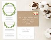 Rustic Wedding Invitations. Calligraphy Font. Wedding Favors. Wedding Menu. Wedding Programs. Shabby Chic. Rustic Wedding. Stationery Set.