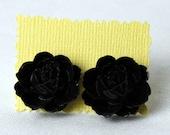 Black Rose Stud earring BIG