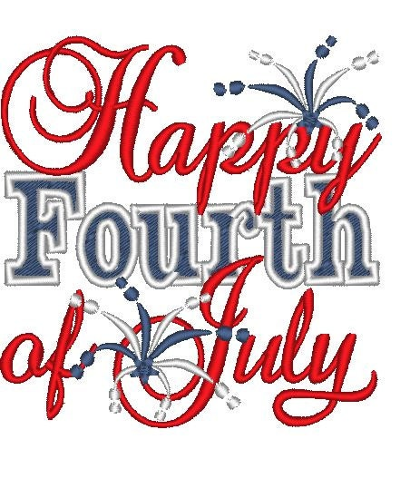 happy 4th of july machine embroidery designs 4x4 and 5x7. Black Bedroom Furniture Sets. Home Design Ideas