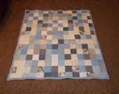 Lap Size Wedding Guest Book Signature Quilt -  Lap Size 60 x 65 - Custom Made to Order - Match Wedding Colors