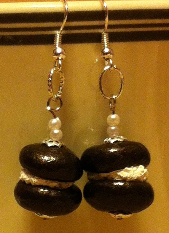 Mothers Day Gift Whoopie Pie Earrings, Maine, Maine Treat, Gift, Jewelry