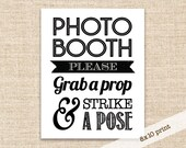 SALE!!! Photo Booth Prop Sign - Printable DIY 8x10 Sign - Rustic photobooth printable for weddings, parties, reunions, etc.