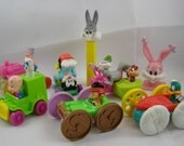 50% off clearance sale! Warner Brothers Tiny Toons, Animaniacs, Looney Tunes vintage character toys, McDonalds, Pez, set of 8