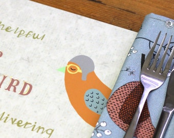 SALE Mr Bird Delivering Placemat