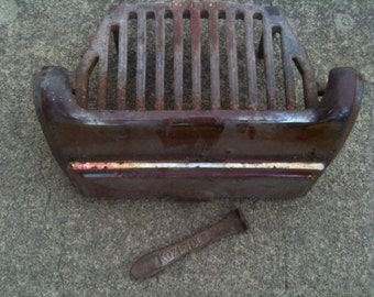 Antique English Fireplace Fire Guard and Grate Kozi Toes circa 1950's / English Shop